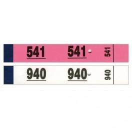 ELVE BLOC DE 50 TICKETS VESTIAIRE 3X20 CM BLANC