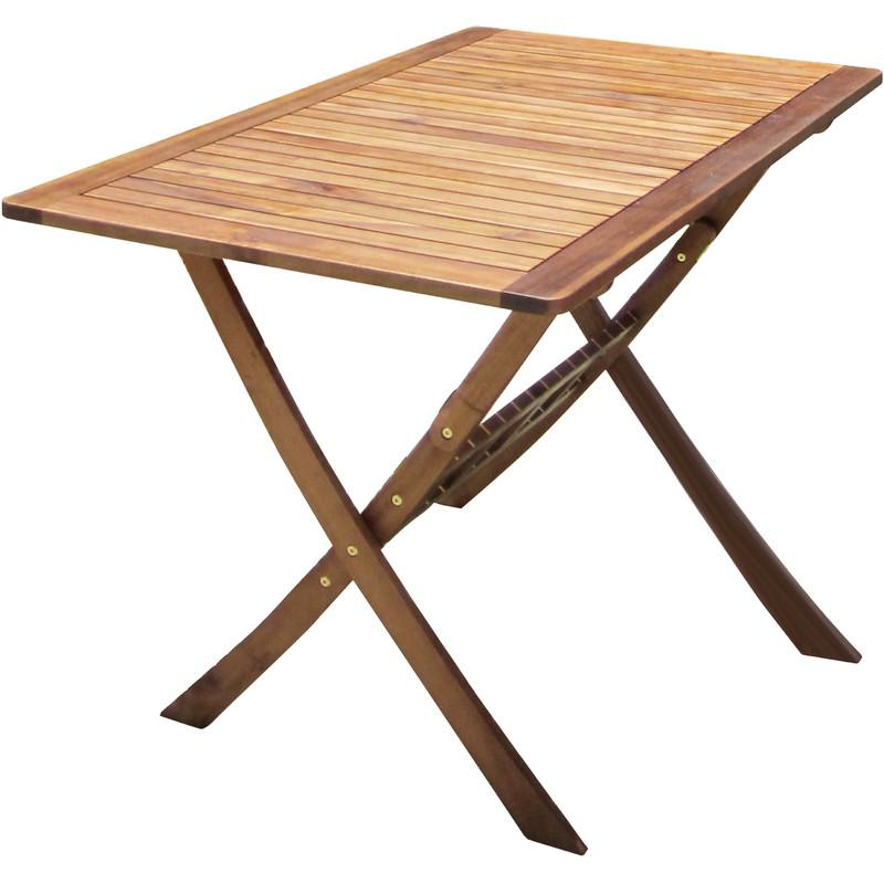 TABLE DE JARDIN OVALE PLIABLE - BOIS - CHARLES BENTLEY