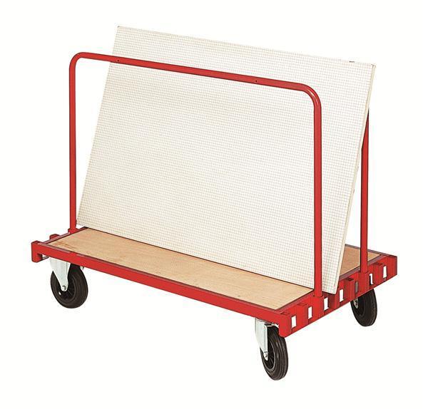 Chariot porte panneaux a ridelles amovibles for Porte 5 panneaux shaker