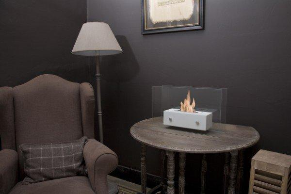 cheminee bio ethanol solaria blanche. Black Bedroom Furniture Sets. Home Design Ideas