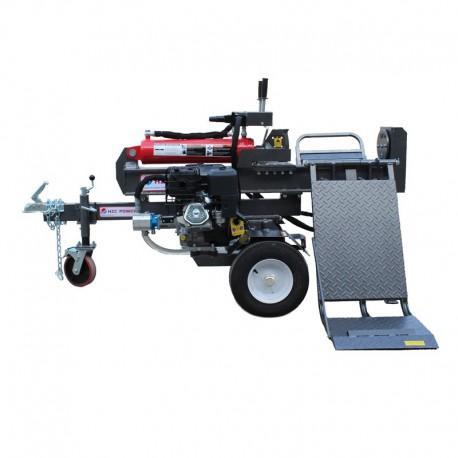 Fendeuse tractable 40t thermique 530mm horizontale avec leve buche - chs40335