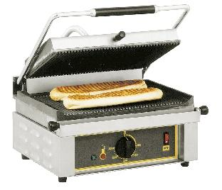 GRILL PANINI ROLLER GRILL PUISSANCE 3 KW- SURFACE CUISSON 360 X 240 MM