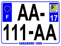 PLAQUE AUTO PVC 27,5 X 20 CM (ANCIEN NUMÉRO)