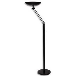 unilux lampadaire fluorescent varialux articule 65 w noir 82 x 39 5 x 13 5cm. Black Bedroom Furniture Sets. Home Design Ideas