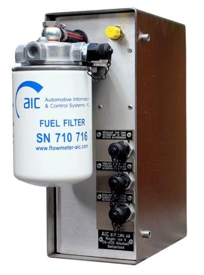 Aic 7000 nemo - débitmètre carburant avec mesure des émissions de co2 - flowmeter - 2000 impulsions par litre (modèle 7004), 804 impulsions par litre (modèle 7008)
