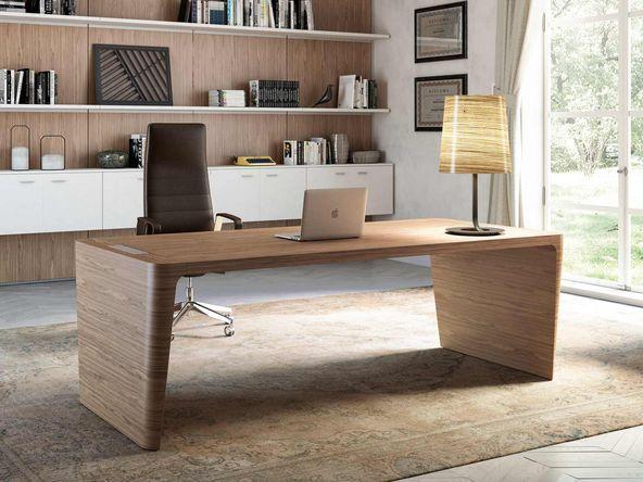Bureau haricot blanc artdesign bureaux et tables sur mesure en