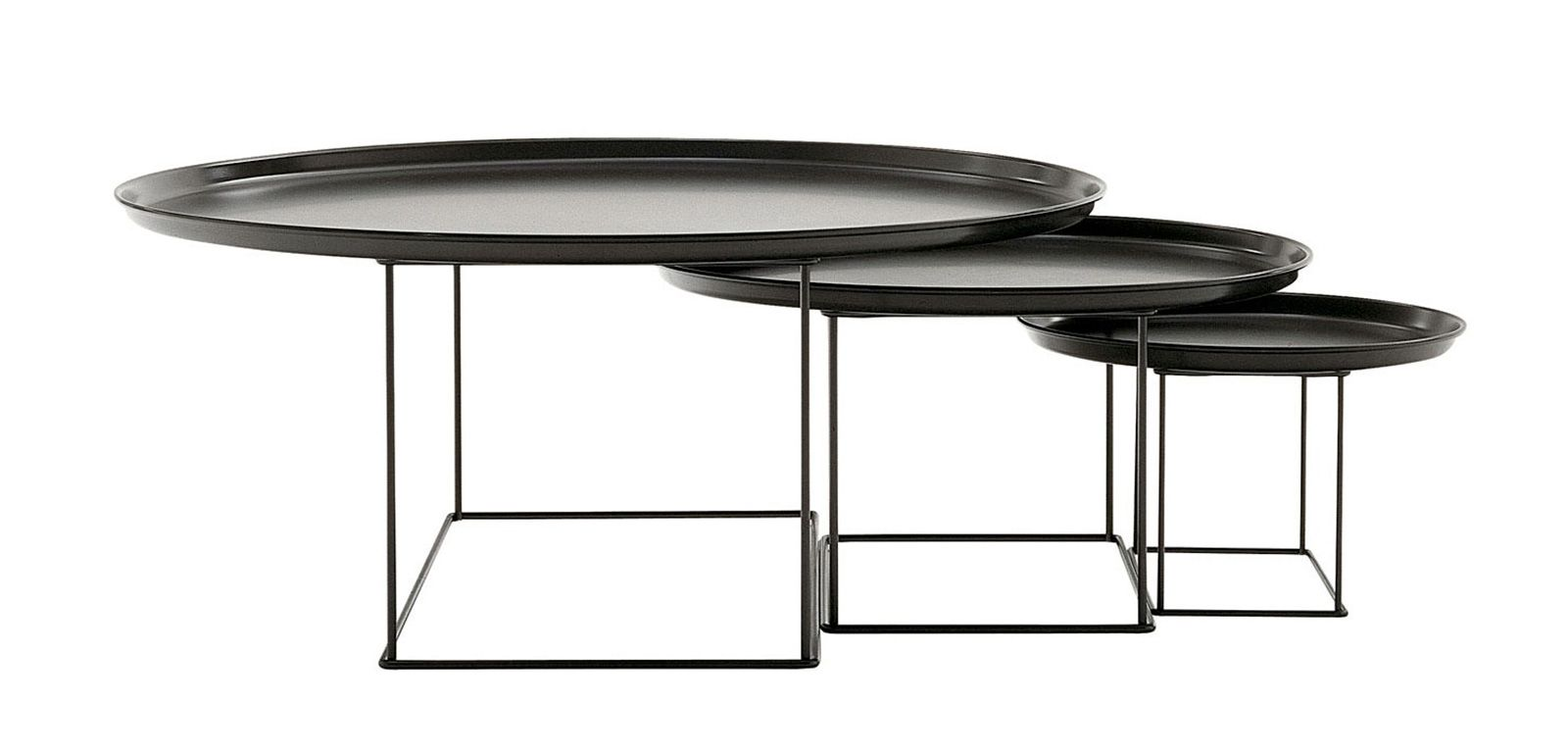 Table basse design patricia urquiola tables gigognes - Table basse gigogne design ...