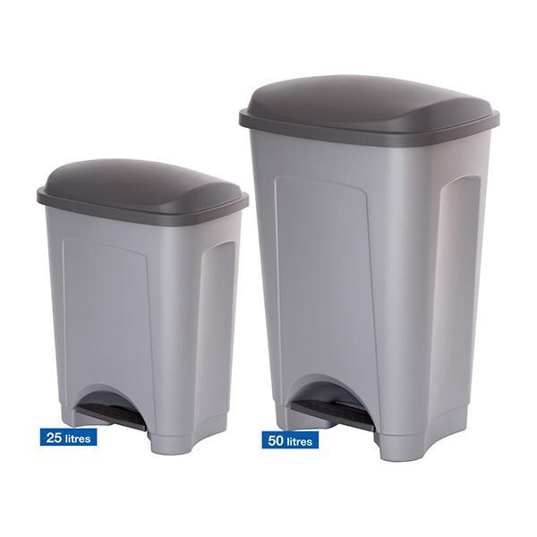 poubelle plastique p dale conomique poubelle plastique p argent comparer les prix de. Black Bedroom Furniture Sets. Home Design Ideas