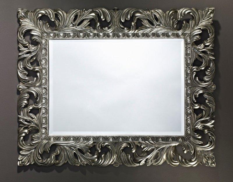Vinci miroir mural en verre de style classique argent for Miroir mural decoratif
