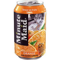 24 BOÎTES - MINUTE MAID - ORANGE 33 CL