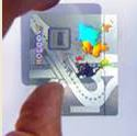 étiquettes marquage à froid holographique
