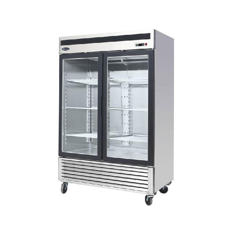Atosa armoire réfrigérée 2 portes vitrées négative 1335 litres - mcf8703- sd