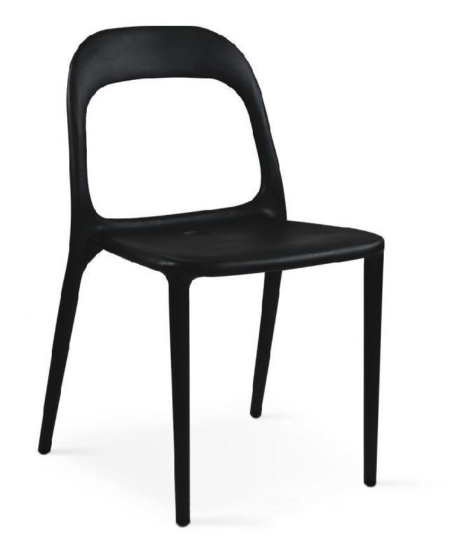 Chaise en plastique de jardin noir boutique jardin for Chaise de jardin noire