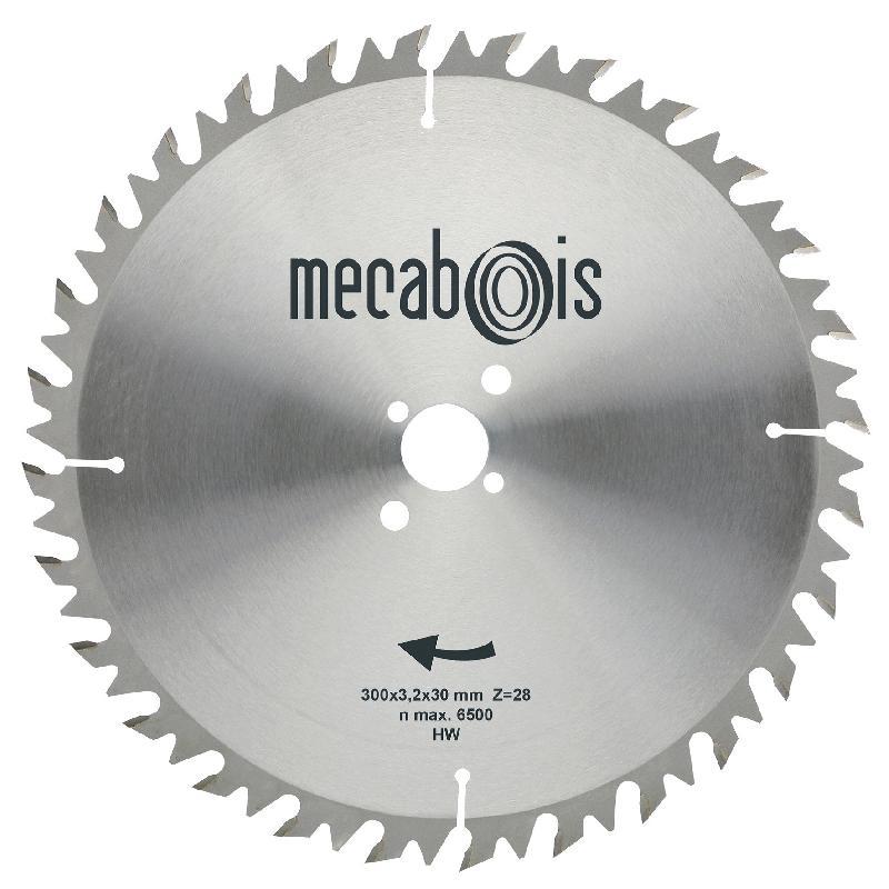 MECABOIS - LAME DE SCIE CIRCULAIRE AU CARBURE ANTI-RECUL POUR BOIS DE CHAUFFAGE ET DE CONSTRUCTION - 450 X 30