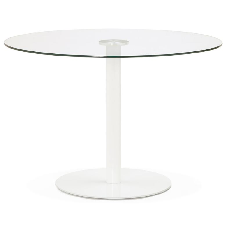 Table ronde verre design moderne accueil design et mobilier for Table ronde verre design