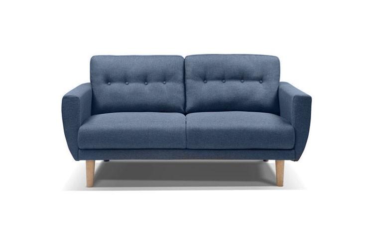 canape scandinave 2 places tissu chine isabelle bleu. Black Bedroom Furniture Sets. Home Design Ideas
