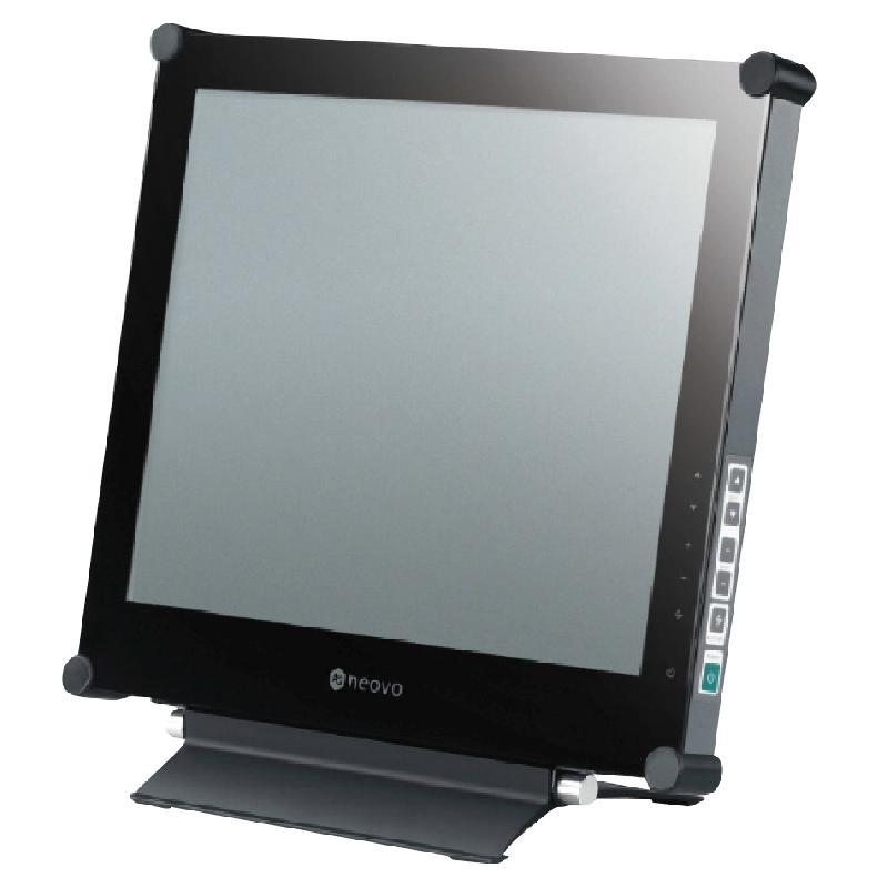 MONITEUR DALLE VERRE BOITIER METAL LCD NÉOVO 17P X17 PLUS NOIR