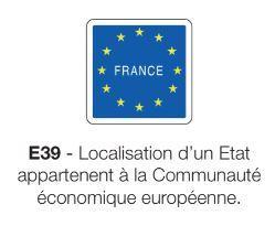 Signalisation de localisation e39