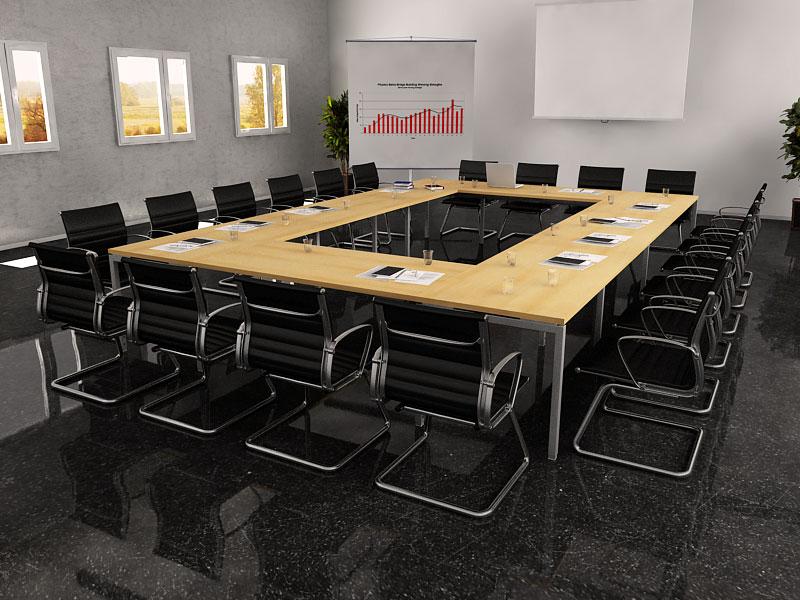 table de conference lilly. Black Bedroom Furniture Sets. Home Design Ideas
