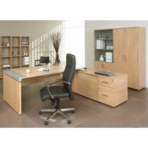 bureau droit avec console en retour ixo. Black Bedroom Furniture Sets. Home Design Ideas
