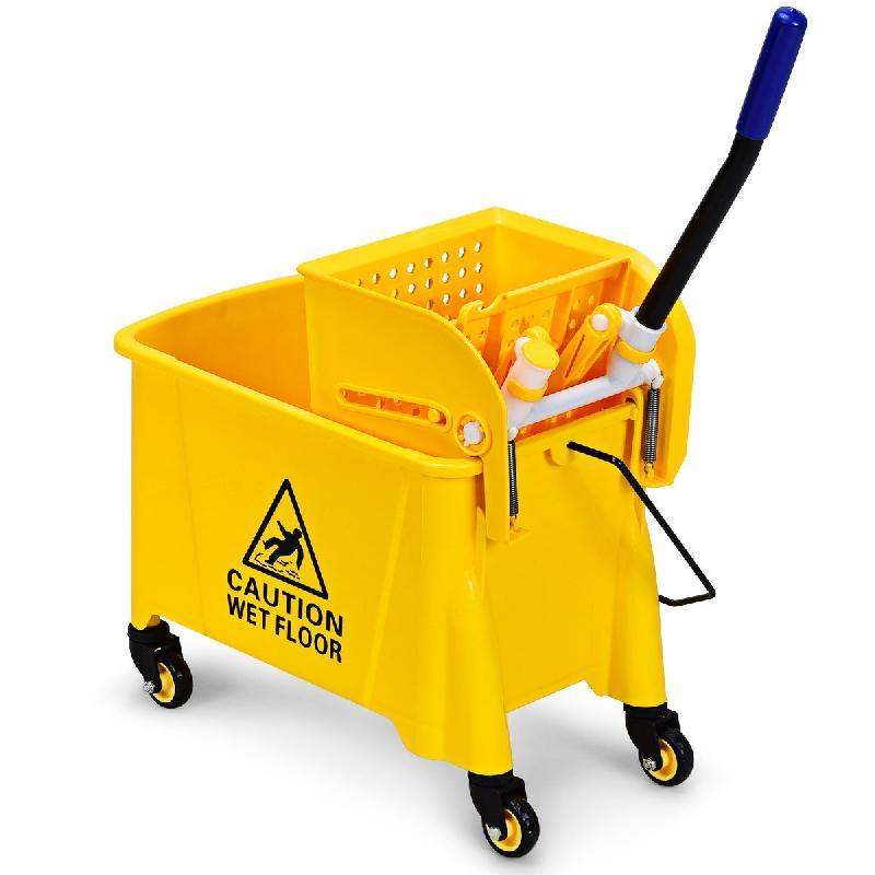 Chariot de nettoyage avec seau de lavage de 20 litres professionnelle pour vadrouille/balis 60 x 28 x 70 cm 20_0000421