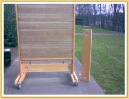 Mur mobile exterieur pour allee beton