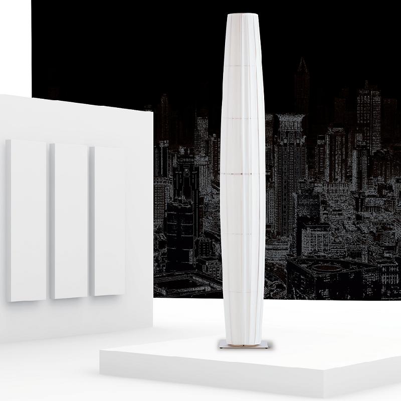 colonne lampadaire blanc inox h190cm lampadaire dix heures dix design par fabrice berrux. Black Bedroom Furniture Sets. Home Design Ideas