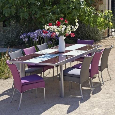 Tables de jardins tous les fournisseurs table de for Table exterieur plastique noir
