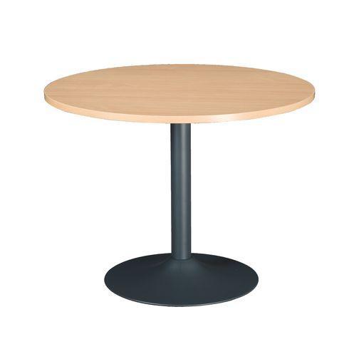 table ronde excellens plateau h tre diam tre 100 cm pied colonne bruneau comparer les prix de. Black Bedroom Furniture Sets. Home Design Ideas