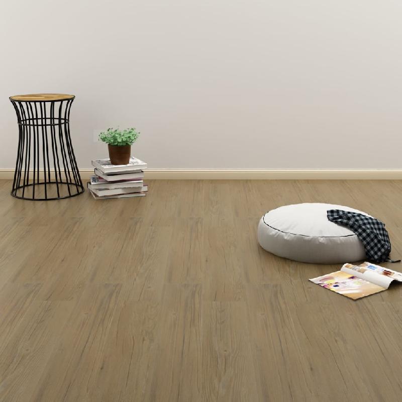 Vidaxl plancher à enclenchement 3,51 m² 4 mm pvc marron naturel