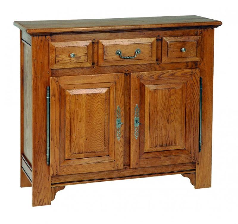 buffet bas sidonie en ch ne 2 portes et 3 tiroirs de style campagnard comparer les prix de. Black Bedroom Furniture Sets. Home Design Ideas
