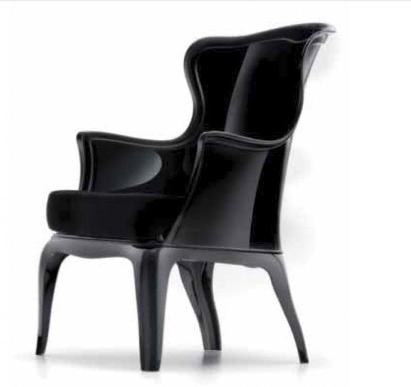daisy chaise design pour salons et jardins en plexi noir - Chaise Salon Design