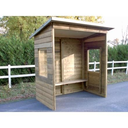 abribus en bois 3m avec fenetre. Black Bedroom Furniture Sets. Home Design Ideas