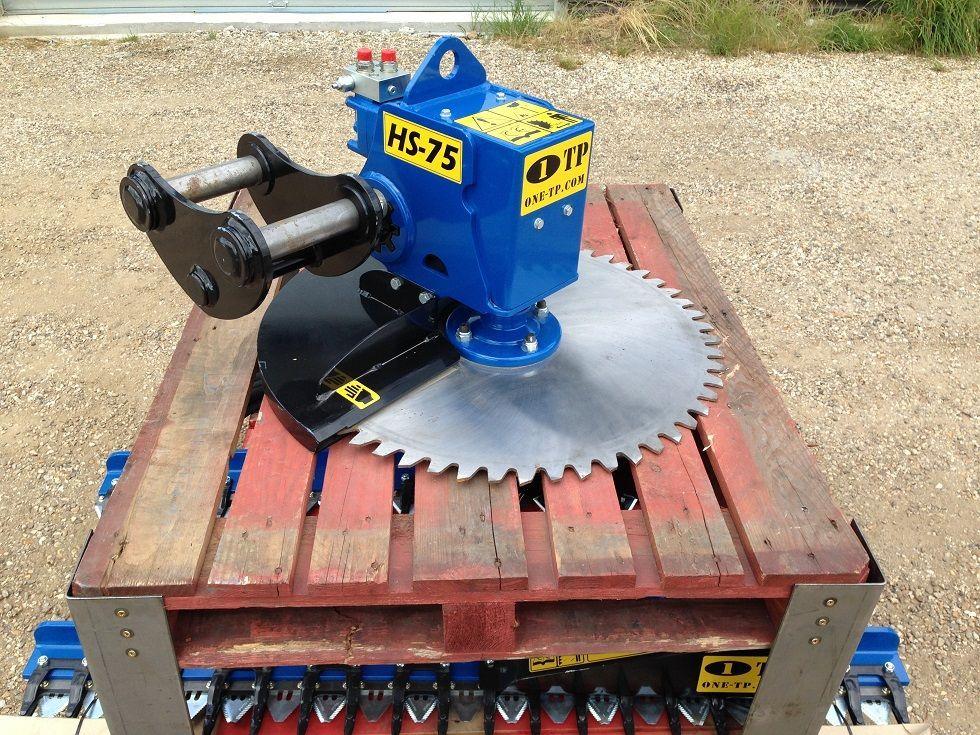 Disque d'elagage hs75 pour pelles 4 - 11 tonnes