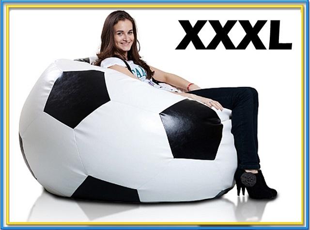 fauteuil pouf en forme de ballon de football