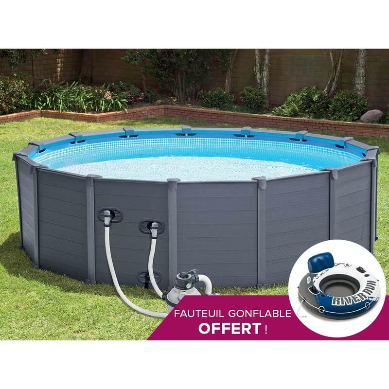 Piscines intex achat vente de piscines intex for Piscine graphite intex