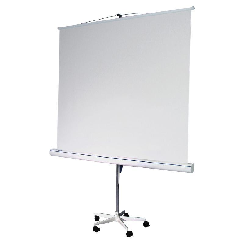 ecran de projection oray blanc mat format carr sur pied toile 200 x 200 cm comparer les prix. Black Bedroom Furniture Sets. Home Design Ideas