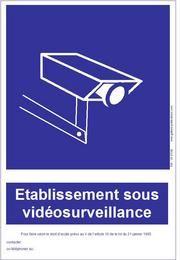 PANNEAU ETABLISSEMENT SOUS VIDEOSURVEILLANCE