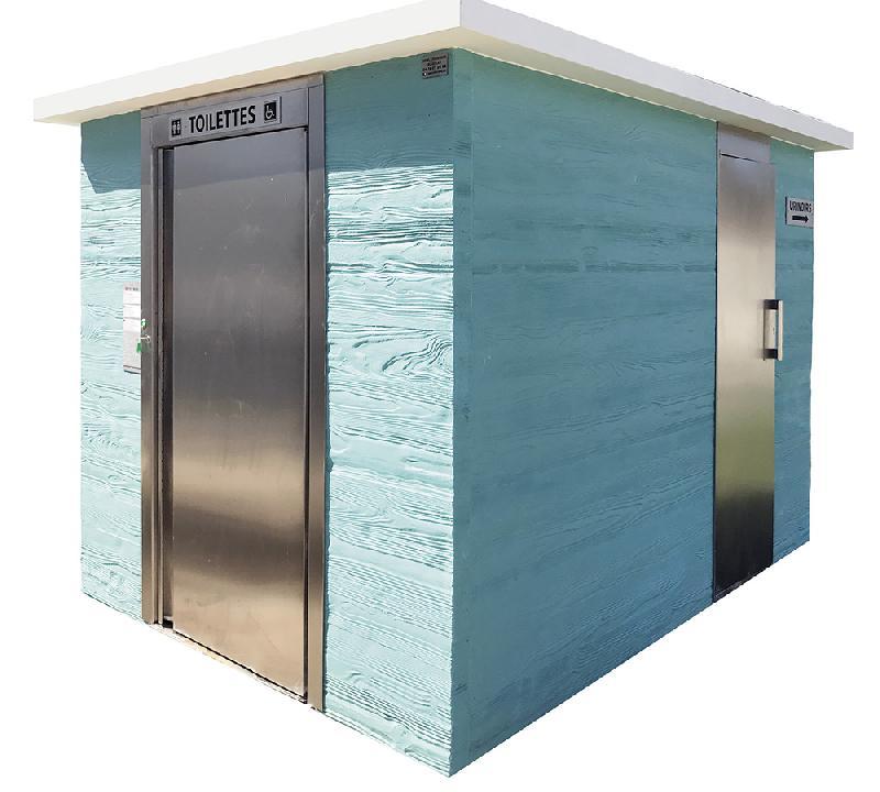 Toilette automatique - imitation bois horizontale