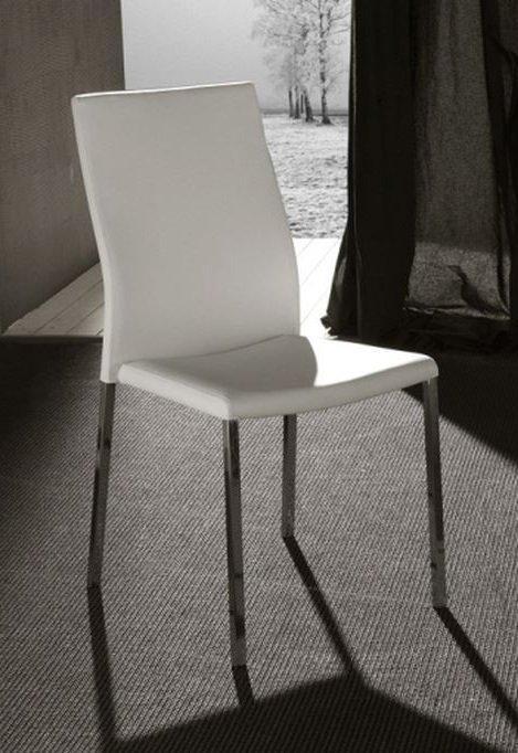 Lot de 2 chaises design hellen en tissu enduit polyuréthane
