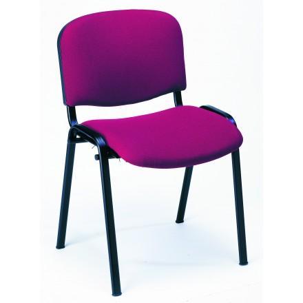 Chaise iso tissu pieds noirs