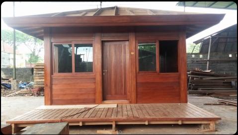 Chalet en bois plain-pied / 20 m² / en kit / toit multipente