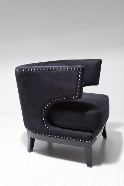fauteuil prince velours noir. Black Bedroom Furniture Sets. Home Design Ideas