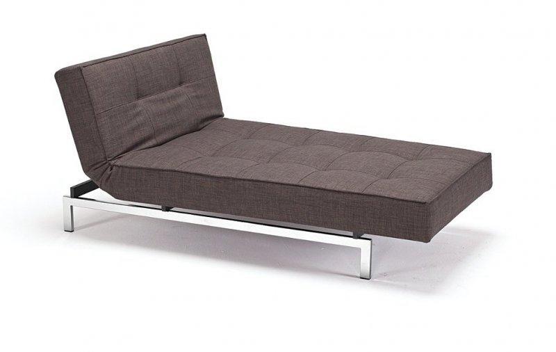 meridienne design splitback marron convertible lit 100 200cm. Black Bedroom Furniture Sets. Home Design Ideas