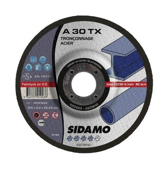 SIDAMO - 25 DISQUES À TRONÇONNER A 30 TX D.115X22,23X3,2MM