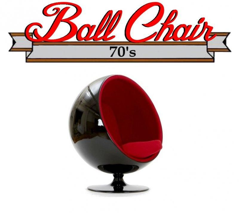 fauteuil boule ball chair coque noir int rieur velours rouge design 70 39 s comparer les prix. Black Bedroom Furniture Sets. Home Design Ideas