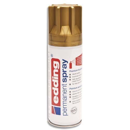 Edding spray peinture permanente 200ml or, pour extérieur et intérieur