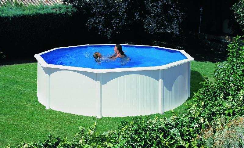 piscine gre hors sol acier ronde avec filtre sable. Black Bedroom Furniture Sets. Home Design Ideas