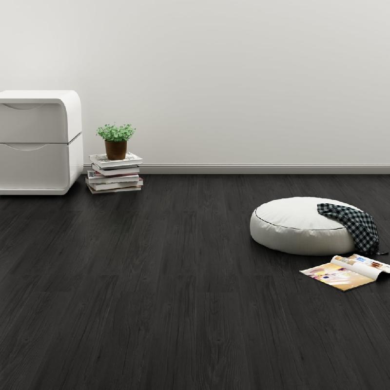 Vidaxl plancher à enclenchement 3,51 m² 4 mm pvc chêne anthracite