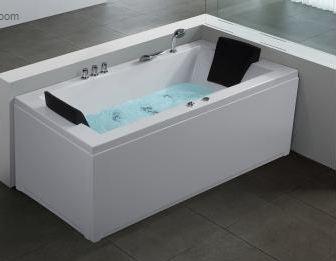baignoire d 39 angle rectangulaire baignoire balneo whirlpool hydromassage chromotherapie. Black Bedroom Furniture Sets. Home Design Ideas